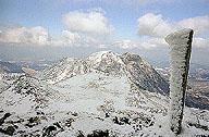厳冬期の三俣山遠望